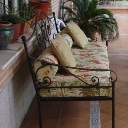 Кованый диван Орга