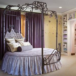 Кованые круглые кровати