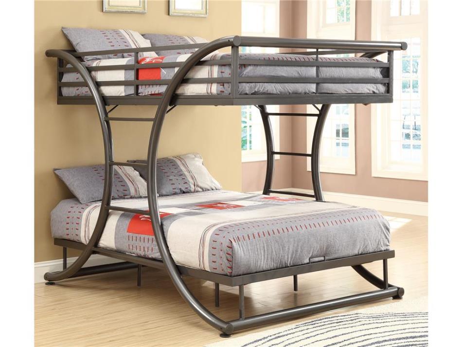 Кованая кровать-чердак