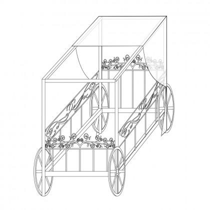 Кованая кровать-карета по эскизу 1