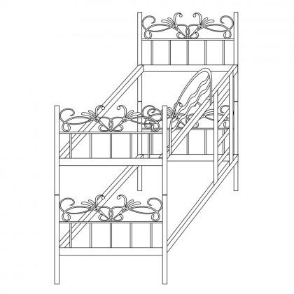 Кованая кровать-трансформер по эскизу 1
