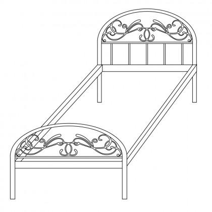 Кованые детские кровати по эскизу 1