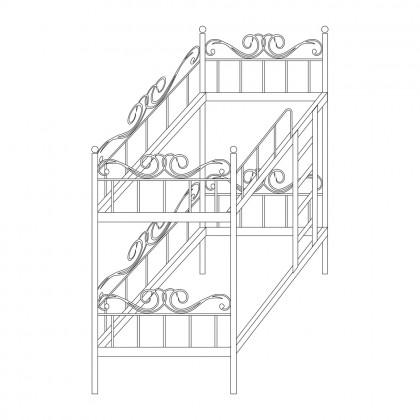 Кованые двухъярусные кровати по эскизу 1