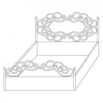 Кованые кровати с ящиком по эскизу 1