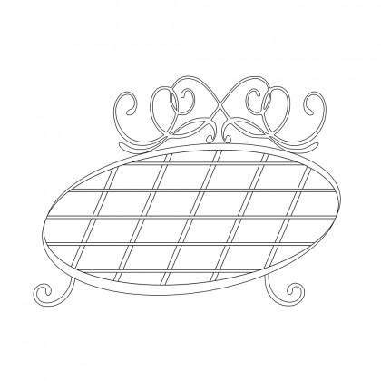 Кованые круглые кровати по эскизу 1