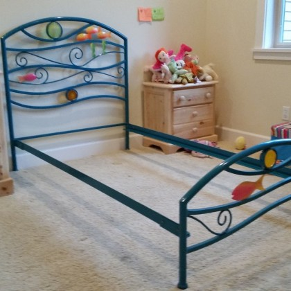 Кованая кровать Риксиги 1