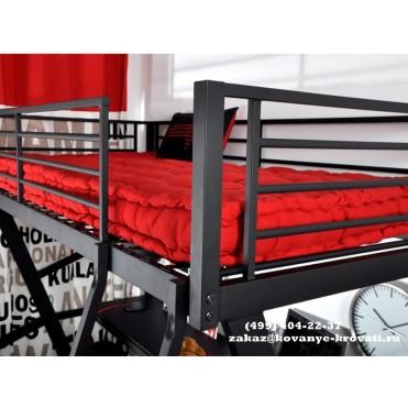 Кованая кровать чердак Гастокэ