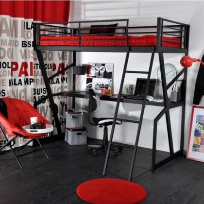 Кованая кровать чердак Гастокэ 1