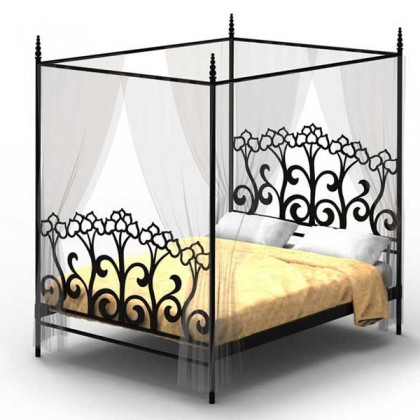 Кованая кровать Хильдебренд 1
